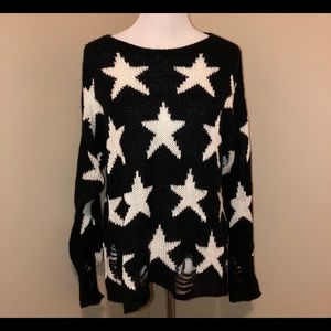 WildFox White Label Distressed Knit Sweater-S(?M)